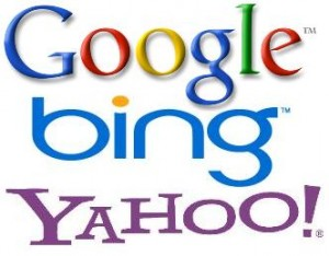 google, yahoo, bing serch engine logos